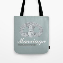 Married in September Tote Bag