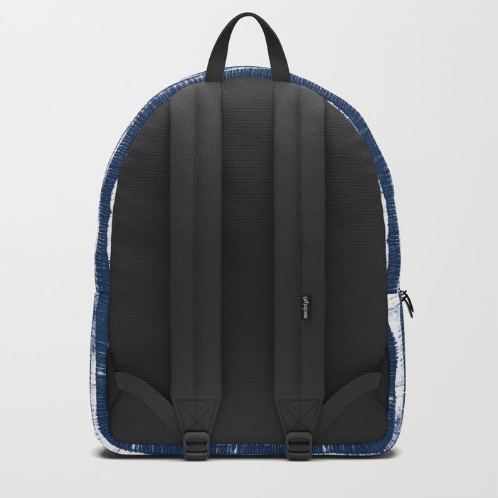 Shibori Stripes Indigo Blue Backpack