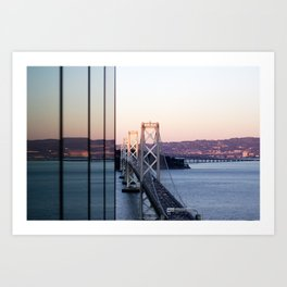Reflections of the Bay Bridge Art Print