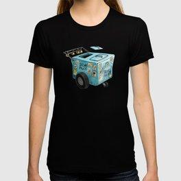 Blue Paletero Ice Cream Cart T-shirt
