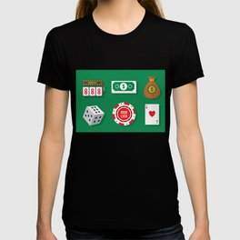 Cash, Slots, Chips, Dice & Cards - Nevada Day T-shirt