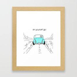 Let yourself go Framed Art Print