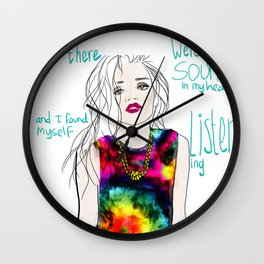 sounds in my head Wall Clock