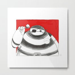 What if Baymax was a Pirate Metal Print