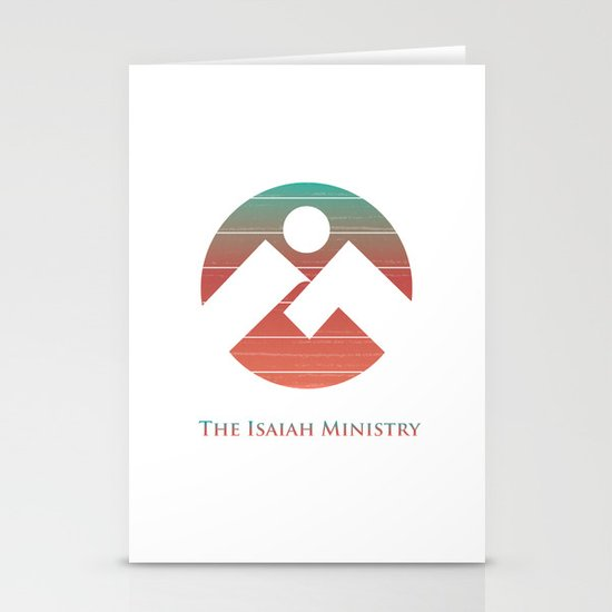 The Isaiah Ministry Logo Stationery Cards