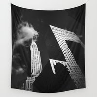 building Wall Tapestries featuring Chrysler Building by Vivienne Gucwa