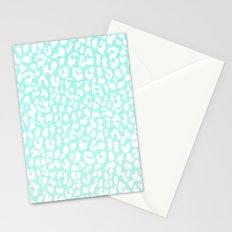 Winter Mint Leopard Stationery Cards