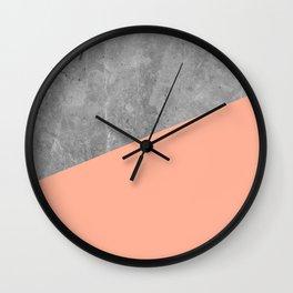 Geometry 101 Sweet Peach Pink Wall Clock