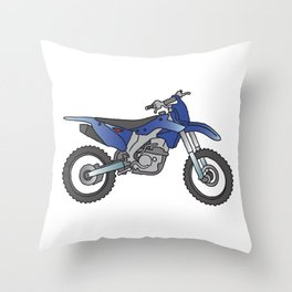 Motocross motorcycle Throw Pillow