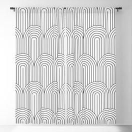 Art Deco Arch Pattern IX Blackout Curtain