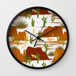 Desert Modernism-Cactus Wall Clock