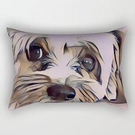 Copper Eyes Wide Open Rectangular Pillow