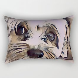 Copper Eyes Wide Open Rectangular Pillow