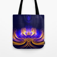 meditation Tote Bags featuring Meditation by Art-Motiva