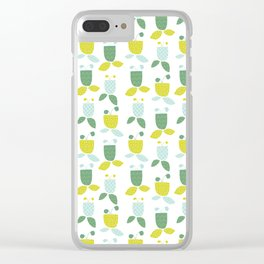 Schoolhouse Blooms Clear iPhone Case