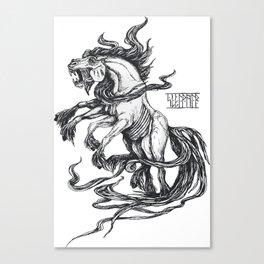 Mythological horse Sleipnir Canvas Print