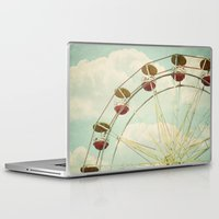ferris wheel Laptop & iPad Skins featuring ferris wheel by Beverly LeFevre