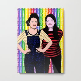 "TV Queens - Broad City ""Yaas Queen"" Metal Print"