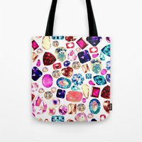 gem Tote Bags featuring GEM by Liz Haywood