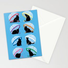 raining cats 'n cats Stationery Cards