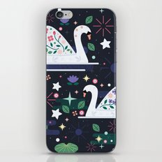 Swans on Stars iPhone & iPod Skin