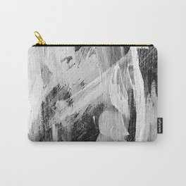 Abstract Painting in Black, Gray and White Carry-All Pouch