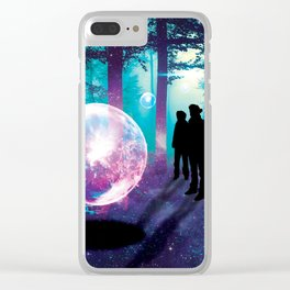 Forest Orbs Clear iPhone Case