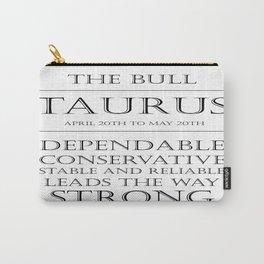 Taurus Zodiac Art Carry-All Pouch