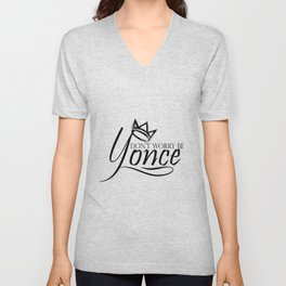 Dont worry, be yonse. Unisex V-Neck