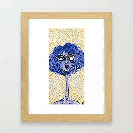 Purple Gal Framed Art Print