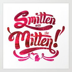 Smitten with the Mitten Art Print