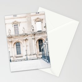 Louvre Museum Louvre Courtyard in Paris, France Stationery Cards