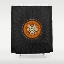 Copper Gold Metal Blend Mandala Shower Curtain