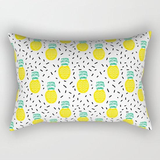 Pineapple fun modern minimal scandi design fresh fruit tropical island summer beach socal vegan Rectangular Pillow