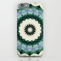 White Flower and Cerulean Blue Mandala Slim Case iPhone 6s