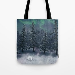 Wintry Forest Tote Bag