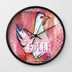 La Poule Folle (The Mad Hen) Wall Clock
