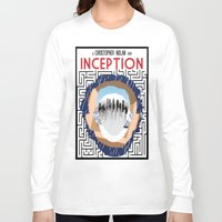 inception Long Sleeve T-shirts featuring Inception Minimalist Film Poster by Sean Breeding Arthouse