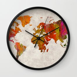 World Map 57 Wall Clock