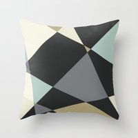 geo Throw Pillows featuring Geo by SarahFlemingDesigns