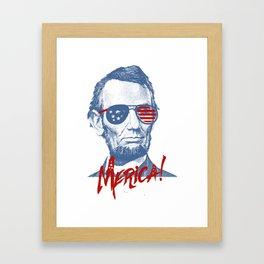 Abraham Lincoln Merica design - NYE of 4th July Clothing Framed Art Print