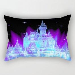 Enchanted Castle Turquoise Purple Rectangular Pillow