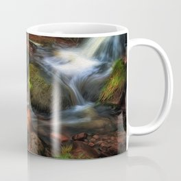 Colours of Autumn in a Brecon stream Coffee Mug