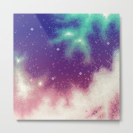 Rainbow Nebula (8bit) Metal Print