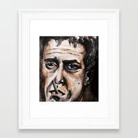 lou reed Framed Art Prints featuring Lou Reed by lo defran