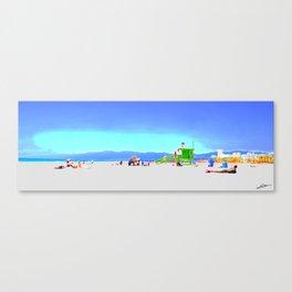 Summer Malibu beach Canvas Print