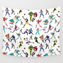 Football Players Wall Tapestry