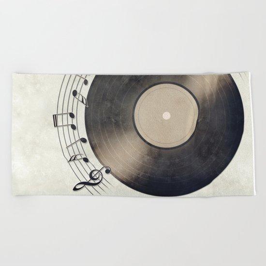 Vinyl Music Collection Beach Towel
