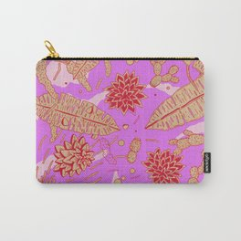 Warm Flower Carry-All Pouch