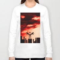 astrology Long Sleeve T-shirts featuring The Astrology  sign GEMINI by Krista May